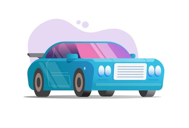 Sportowego samochodu lub rasy samochodu kolorowa ilustracja