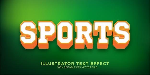 Sportowy efekt tekstowy w stylu programu illustrator
