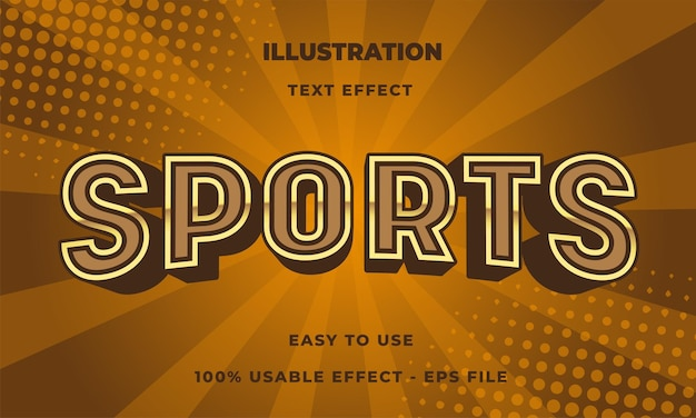Sportowy efekt tekstowy