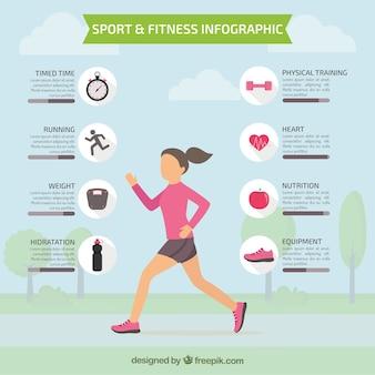 Sportowy infografia życie