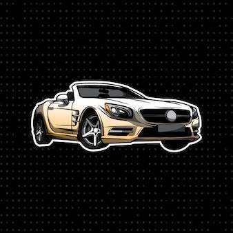 Sportowy samochód mercedes-benz cabrio coupe