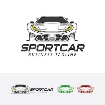 Sportowy samochód wektor logo szablon