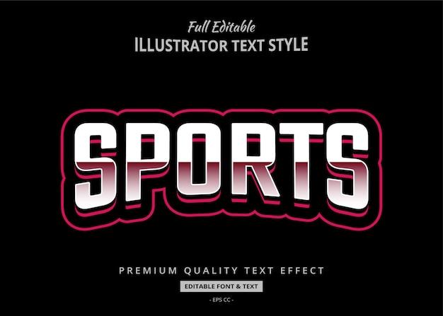 Sportowy styl tekstu efekt premium
