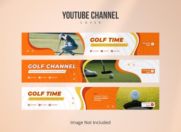 Sportowy szablon okładki kanału youtube