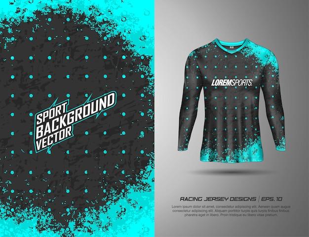 Sportowy t-shirt z długim rękawem do wyścigów, koszulek, kolarstwa, piłki nożnej, gier