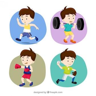 Sportowy zestaw chłopiec
