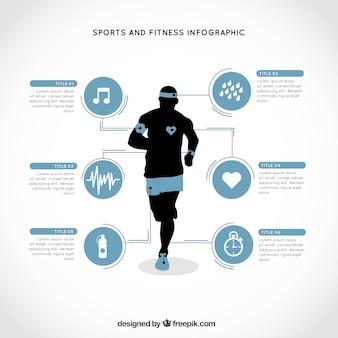 Sporty biegacz infografia