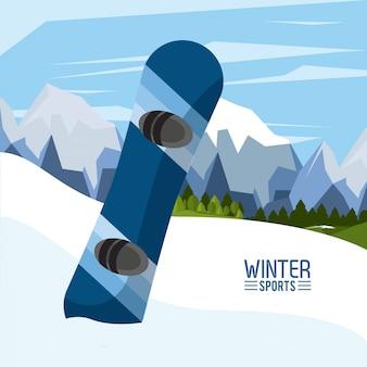 Sporty ekstremalne zimowe ilustracja