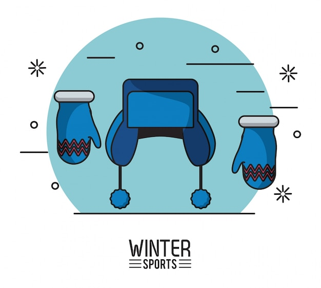 Sporty zimowe ilustracji
