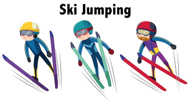 Sporty zimowe ze skokami narciarskimi