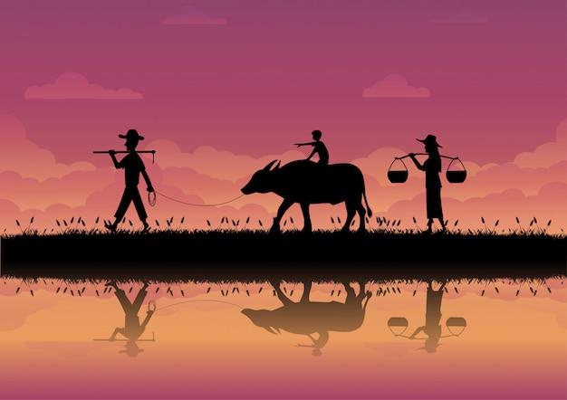 Sposób życia rolników w tajlandii