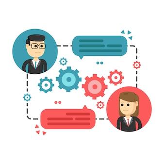 Spotkanie biznesowe konferencja dyskusja korporacyjna