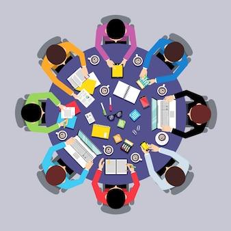 Spotkanie biznesowe wzór tła