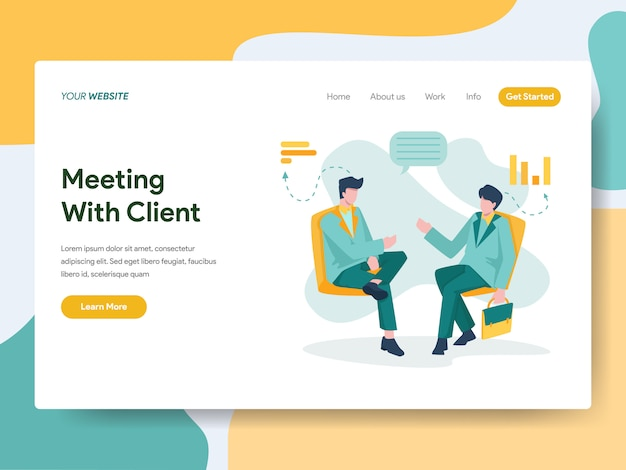 Spotkanie biznesowe z klientem na stronie internetowej