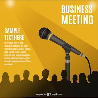 Spotkanie konferencji wektor