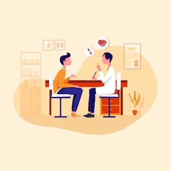 Spotkanie z ilustracją lekarza