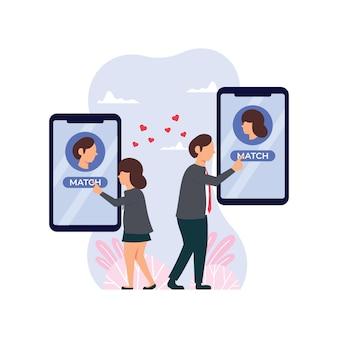 Spotykanie samotnych ludzi. aplikacja randkowa online