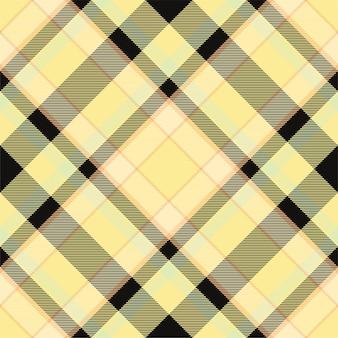 Sprawdź wzór kratki bez szwu. tekstura tkaniny w kratę. paski kwadratowe tło. wektor wzór tkaniny.