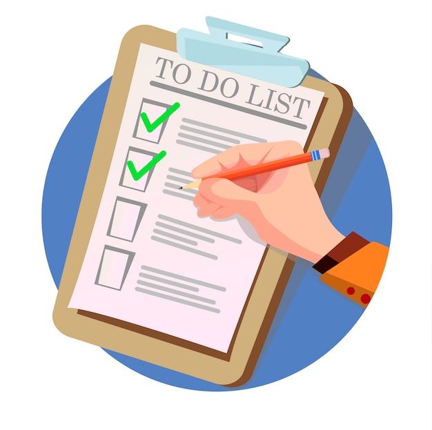 Sprawdzanie listy zadań do wykonania