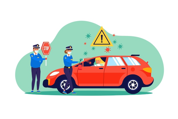 Sprawdzanie temperatury drogowej kontroli drogowej