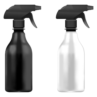 Spray pistol cleaner plastic bottle white