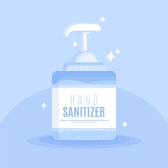 Spryskaj butelkę środkiem dezynfekującym do rąk i czystym połyskiem