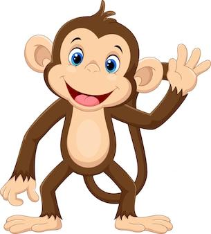 Sprytny, małpa, rysunek
