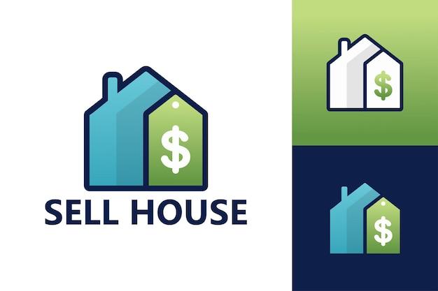 Sprzedaj szablon logo domu premium wektor