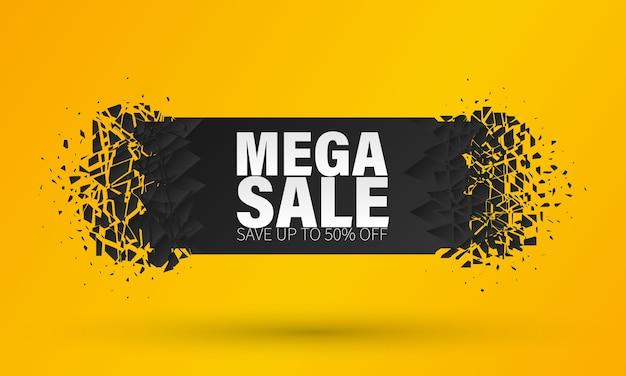 Sprzedam szablon transparent, oferta specjalna duża sprzedaż. czarny piątek sprzedaż transparent z efektem wybuchowym.