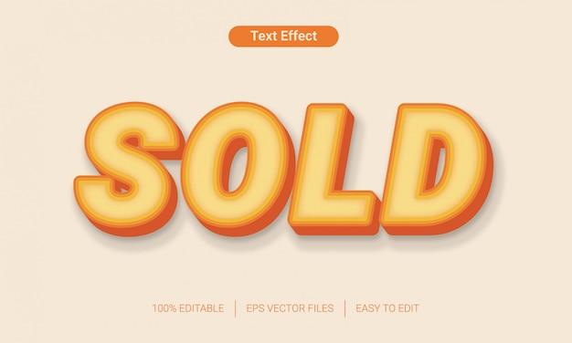 Sprzedany efekt tekstowy z jasnymi kolorowymi plikami