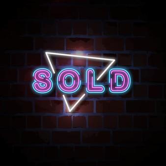 Sprzedawana ilustracja neon znak
