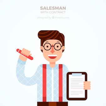 Sprzedawca z umową