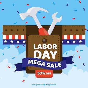 Sprzedaż amerykańskich dni pracy z płaskiej konstrukcji