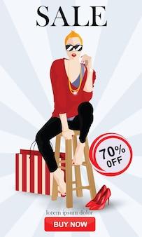 Sprzedaż baner piątek czarny kupon odznaka szablon etykieta projekt reklamy wektor strona internetowa streszczenie