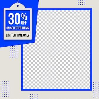 Sprzedaż banner web społecznościowy instagram