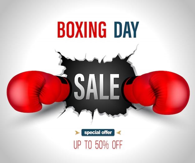 Sprzedaż boxing day na pęknięcie ściany z szablonu plakatu poncz