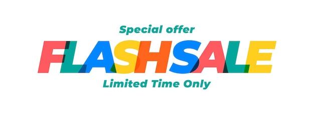 Sprzedaż flash szablon oferty specjalnej