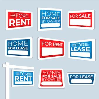 Sprzedaż kolekcji znaków nieruchomości