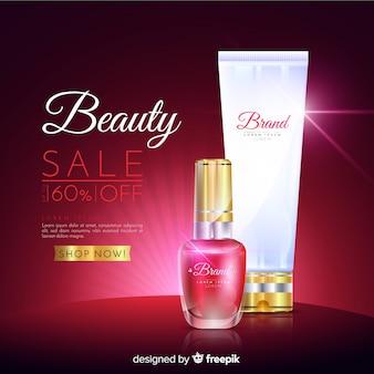 Sprzedaż kosmetyków do prania realistyczna reklama