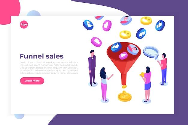 Sprzedaż lejkowa, generowanie leadów, marketing online lub za pozwoleniem, optymalizacja współczynnika konwersji.