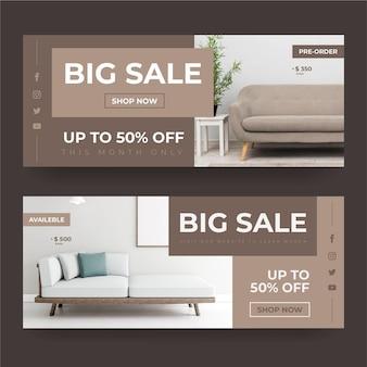 Sprzedaż mebli poziomych banerów ze zdjęciem