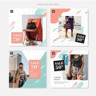 Sprzedaż modna banner mediów społecznościowych