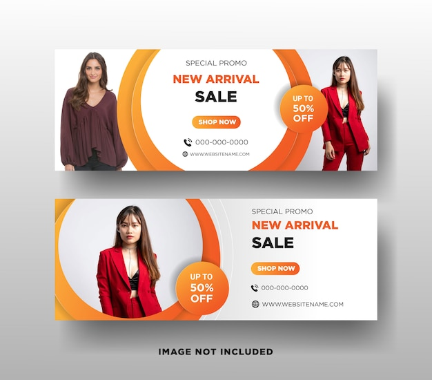 Sprzedaż mody facebook szablon transparent