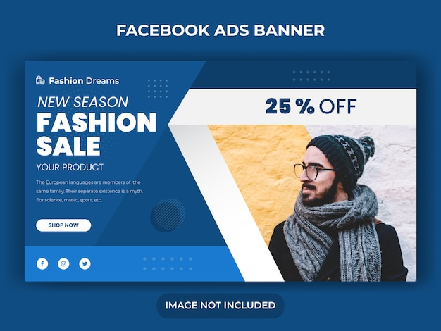 Sprzedaż mody w mediach społecznościowych post banner lub kwadratowy szablon ulotki