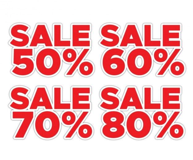 Sprzedaż na zakupy i tekst odizolowywający na białym tle.