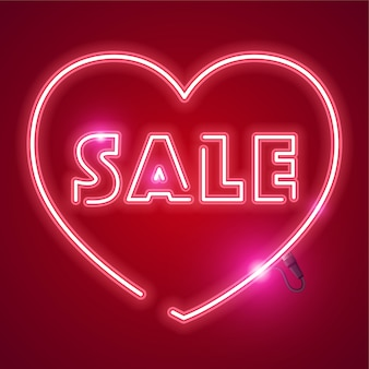 Sprzedaż neon banner