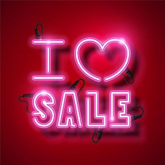 Sprzedaż neon projekt na walentynki