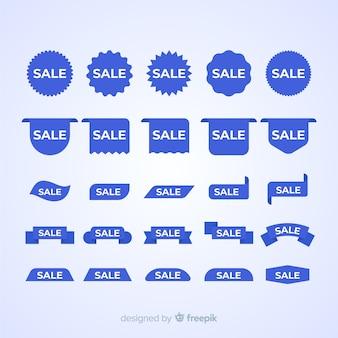 Sprzedaż niebieskiej etykiety