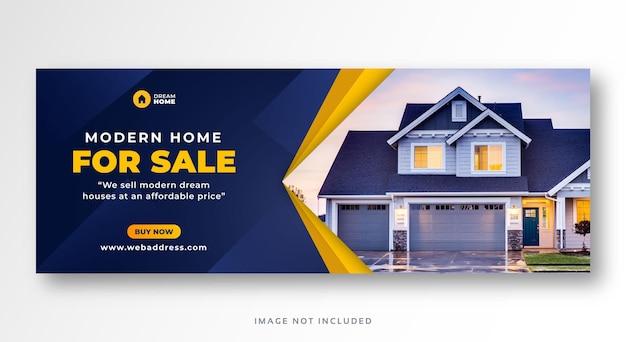 Sprzedaż nieruchomości w mediach społecznościowych facebook okładka baner internetowy