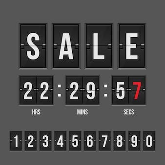 Sprzedaż odliczanie zegaru ilustracja odizolowywająca